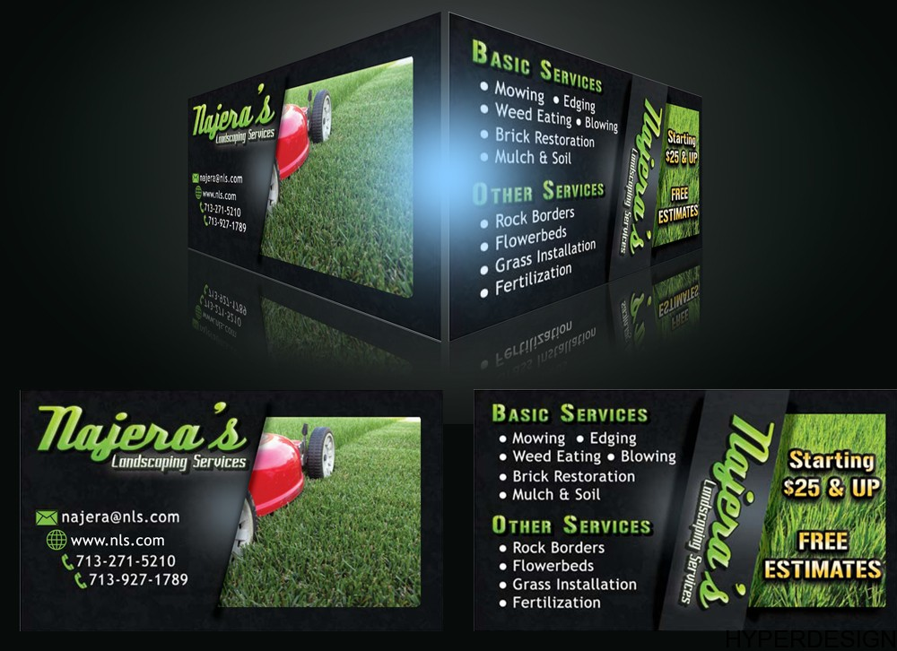 Lawn Service Business Cards images