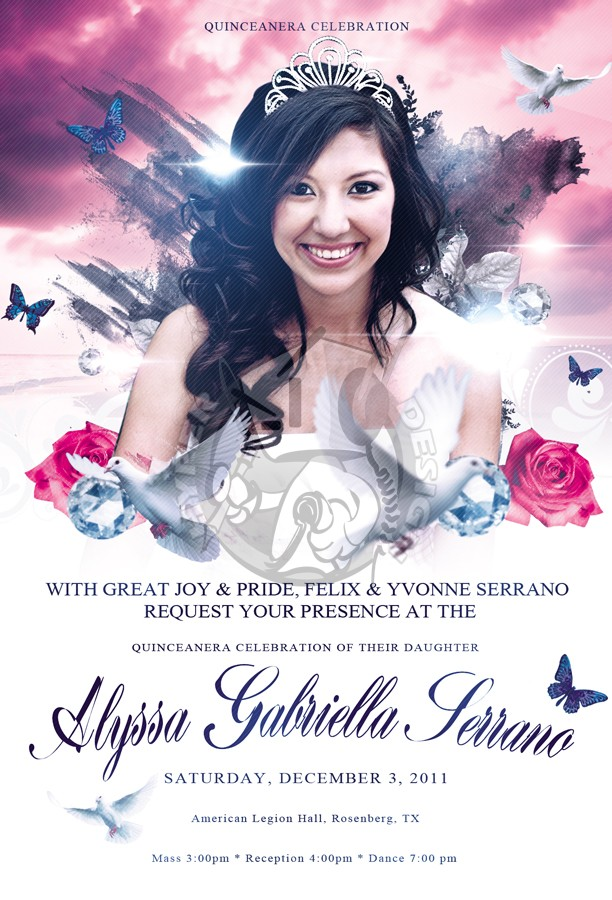Hyperdesign  Quinceanera Celebration Flyer Project