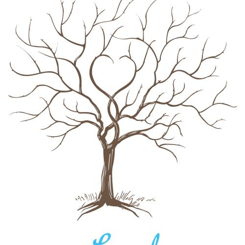 Hyperdesign Baby Shower Thumbprint Tree
